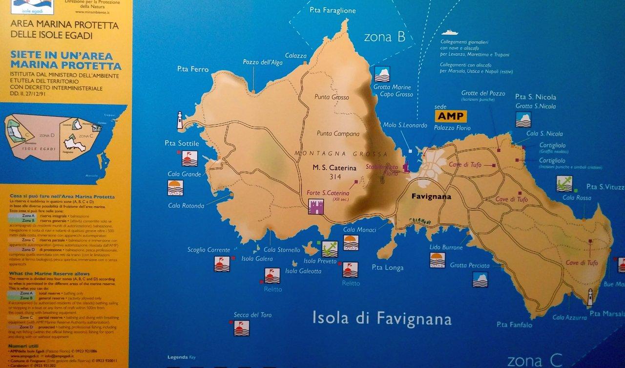 Mappa Turistica Favignana